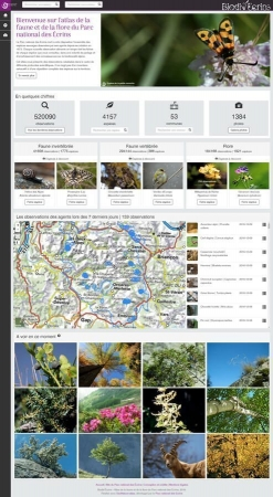 Biodiv'Ecrins : aperçu de l'application