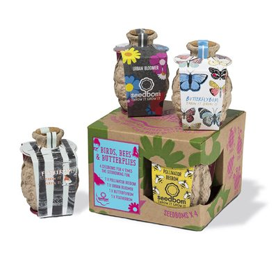 Défi-Ecologique vous recommande Birds, Bees And Butterflies Seedbom Gift Box