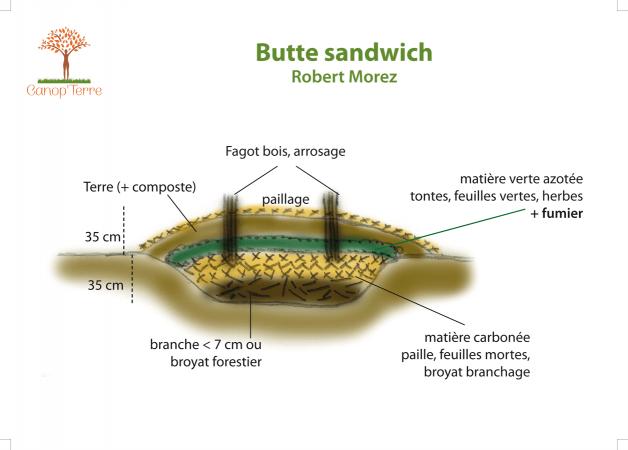 Schéma butte sandwich Robert Morez