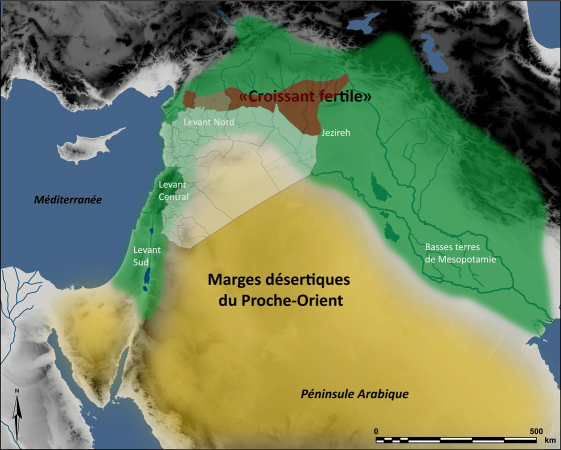 Carte du Rojava et Carte du Croissant Fertile superposées
