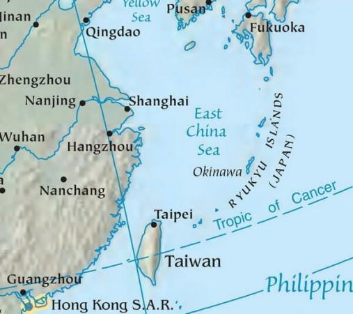 Carte des îles Ryukyu au Japon