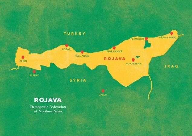 Carte du Rojava issue du livre