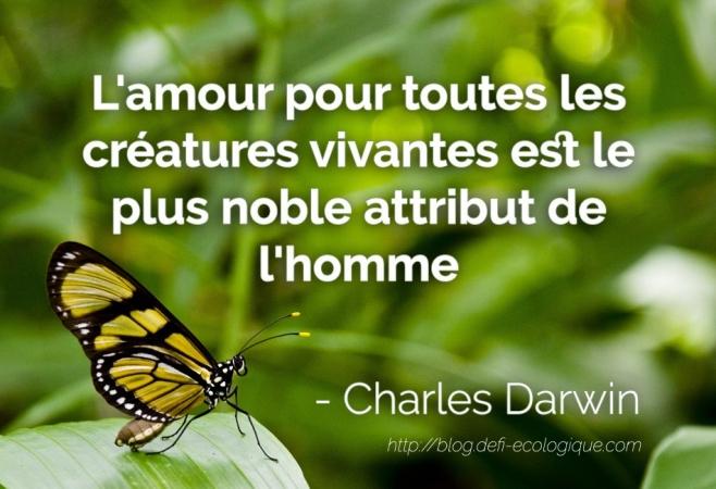 citation à propos de l'écologie de Charles Darwin