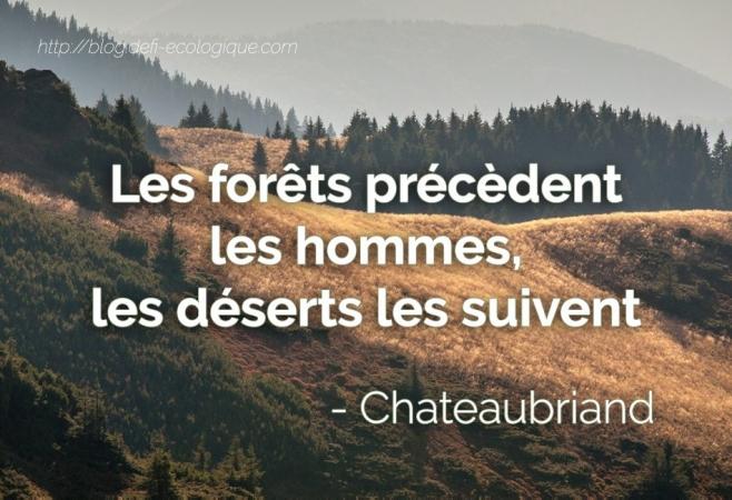 citation à propos de l'écologie de Chateaubriand
