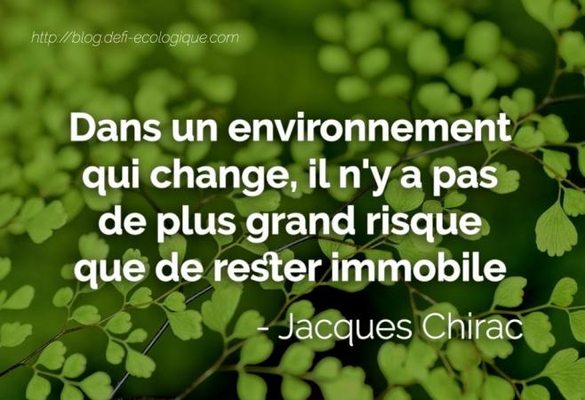 citation à propos de l'écologie de Jacques Chirac