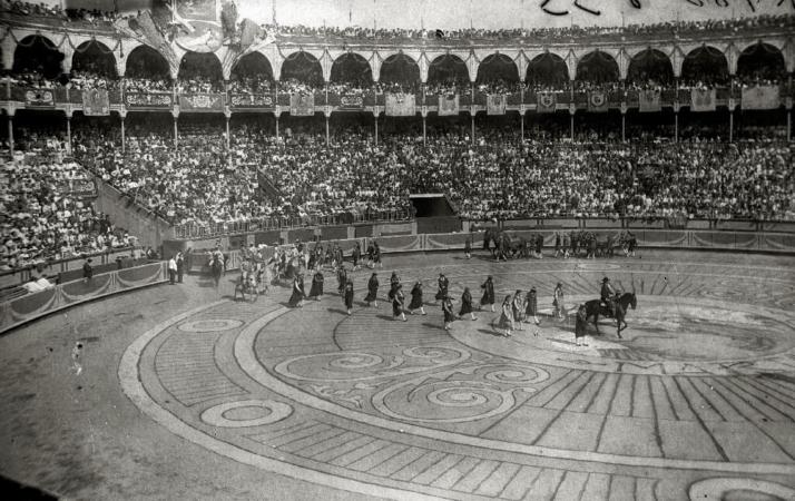 Corrida de Saint Sébastien, en Espagne, en 1928