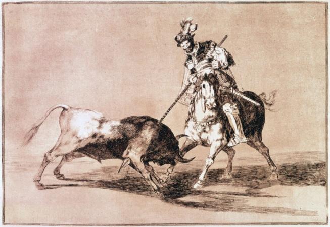 Corrida montée en 1816