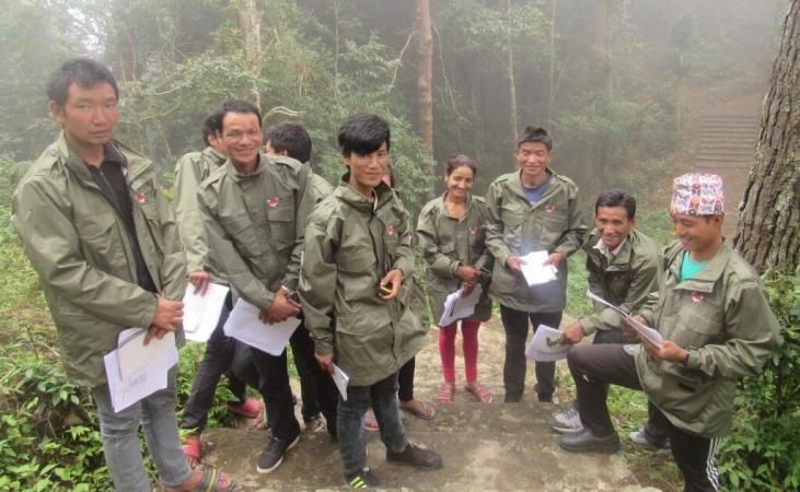 Gardes-forestiers en formation au Népal