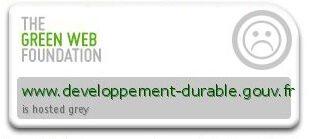 Badge de GreenWebFoundation indiquant que le site n'est pas vert