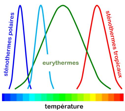 Les eurythermes et les sténothermes