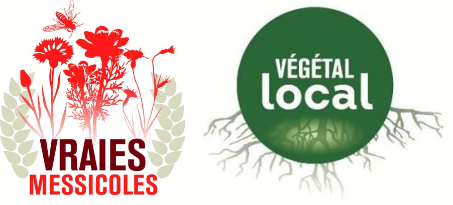 Logo des labels  Végétal local et Vaies messicoles