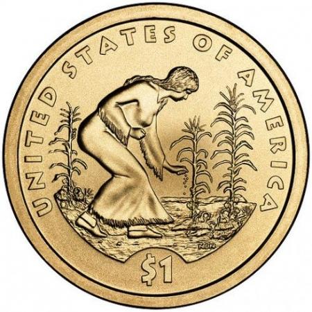 Méthode du jardin iroquois - Femme plantant haricots et courges au pied du maïs