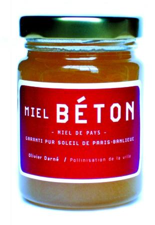 MIEL BETON - 125GR / NECTAR URBAIN, CONCENTRATION D'ENVIRON 3000 HECTARES DE VILLE ET DE 5000 KM DE BUTINAGE