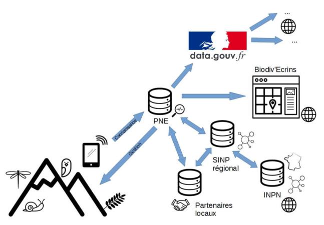 Modélisation du flux des données du Parc National des Écrins