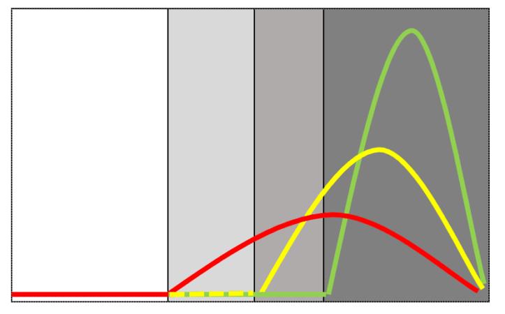 Profil type de sécrétion de la mélatonine au cours d'une journée chez un poisson des zones tempérées