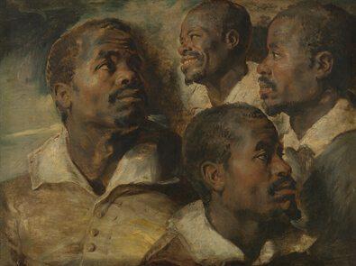 Quatre études de la tête d'un Maure