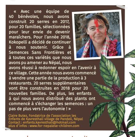 Témoignage de Claire Butez, association Les Enfants de Kavresthali
