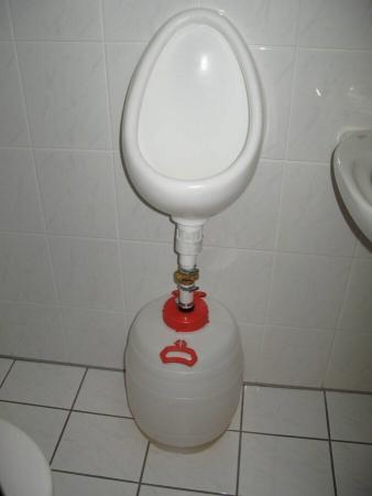 Urinoir avec réservoir de récupération d'urine